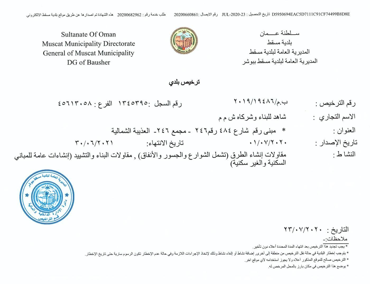 Muscat Municipality Renewal